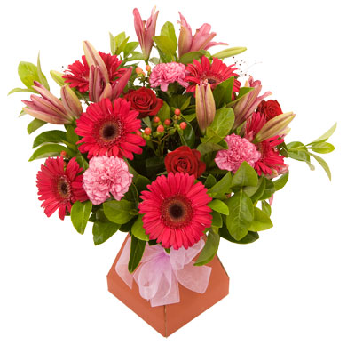 This deluxe arrangement will fill a room with colour