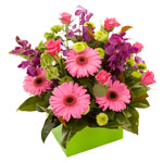 A bright arrangement that is perfect to put the spring back in someone's step