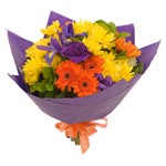 This striking spring bouquet will liven up any home or office