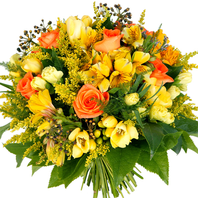 A Beautiful elegant bouquet in Yellow Tones.