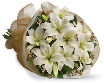 - Let someone know they are special by sending these fragrant blooms of bright white and cream lilies.
