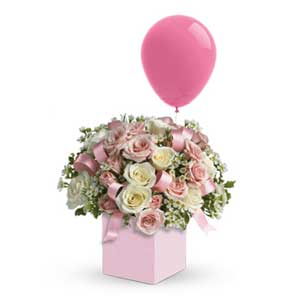 Celebrate the cutest baby girl on the block's arrival with this charming mini box.