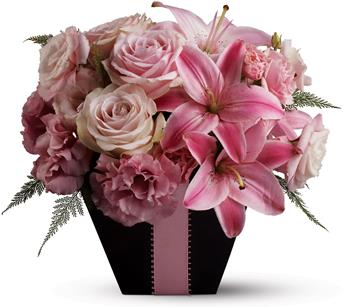 - Searching for a floral arrangement that's fabulous and flirty? Look no further than this blushing arrangement, created entirel