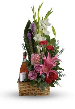 - Go all out for your special someone with this opulently awesome array of lavish flowers and sparkling wine, hand arranged in a
