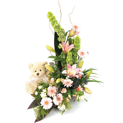 A gorgeous arrangement just perfect for that new arrival