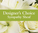 - Can't decide on what to send? The Designer's Choice Sympathy Sheaf is a one-of-a-kind collection of the designer's freshest fl