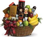 - Packed with fresh fruit, gourmet chocolates, soft cheeses, cabanossi, cookies, crackers...everything a foodie could hope for.