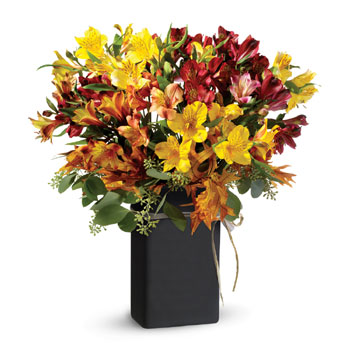 A timeless symbol of friendship, alstroemeria expresses gratitude to those near to your heart. Presented in a ceramic Chalk it k