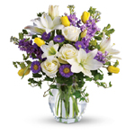 White, Purple & Yellow Mother's Day Flowers