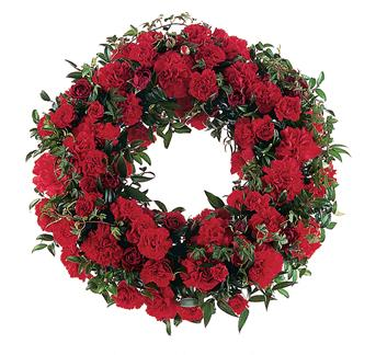 - This simple, yet stylish wreath shows the depth of your love and support.