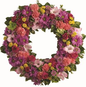- The memory of brighter days is always a comfort to those in mourning. This lovely wreath will display your compassion beautifu