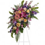 A touching tribute to a lifetime of memories and special moments as varied and dear as this palette of blooms.