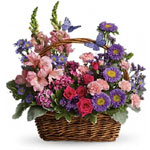 Country Basket Blooms - Dusty Bend