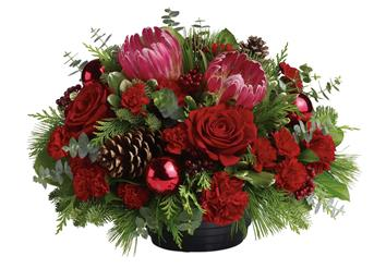 All will be bright this season with this joyful arrangement