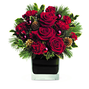 Add a little Elegance to Christmas this year! Your family and friends will think you're delightful when you send them this styl.
