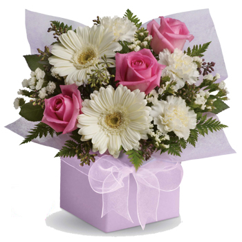 Share your sweet thoughts with this lady like arrangement