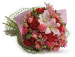 Tell someone you love them with this romantic bouquet which includes roses, lilies, alstroemeria and carnations.