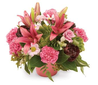 This is a beautiful arrangement with a touch of something different.