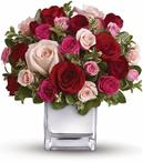 Their heart will break into song when this romantic cube of ravishing roses arrive!
