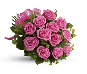 Think of the thanks you'll get when a bouquet of vibrant hot pink roses is delivered.