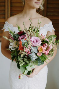 Bridal Bouquet With Greenery