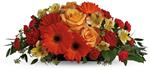 A sweet treat everyone will enjoy! Delight your special someone with this outstanding orange arrangement of gerberas, roses and