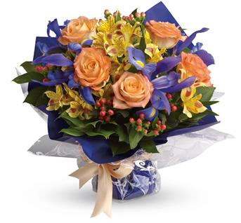 - A peachy choice for men and women alike, this beautiful blend of blue, peach and yellow is an all-occasion all-star!