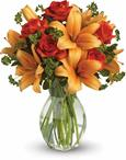 - Spark someone's attention by sending this absolutely radiant vase arrangement. Full of flowers and fiery beauty,it makes a bea