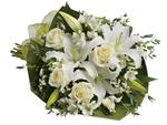 - An elegant expression of sympathy, this wondrous white bouquet conveys purity and peace.