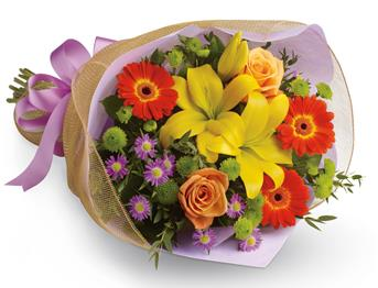 A burst of brilliant flowers designed to make their spirits soar!